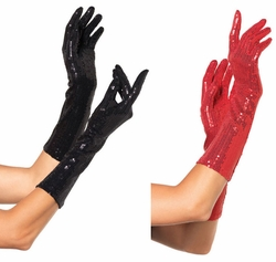 Sequin Elbow Length Gloves