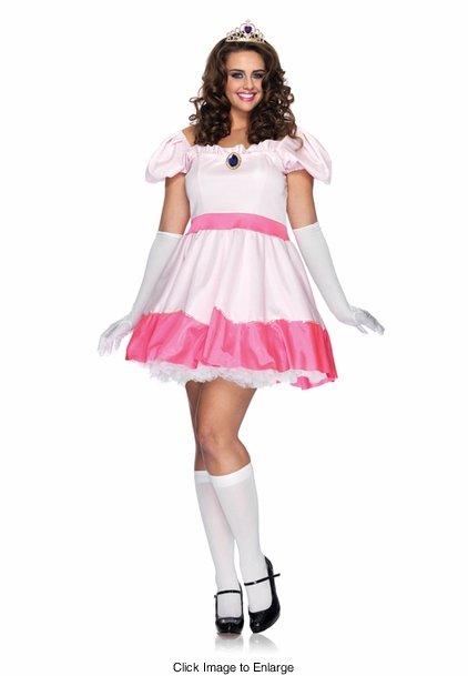 Plus Size 4-Piece Princess Peach Costume