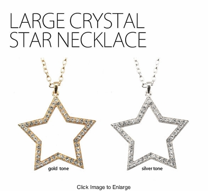 Large Crystal Star Necklace