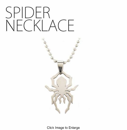 Laser Cut Spider Necklace