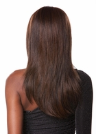 Human Hair Blend Lace Front Wig with Long Layers and Volume