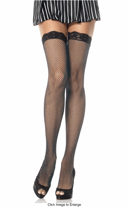 Fishnet Stockings with LaceTop