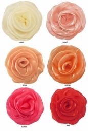 Chiffon Flower Pony Tail Holder with Elastic