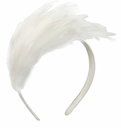 White Wedding Feather Headband