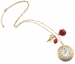 "1.15"" Clock Pendant Necklace"