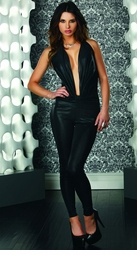 Black Jumpsuit with Halter Front