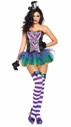 3-Piece Tempting Mad Hatter Costume