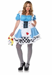 Plus Size Miss Wonderland Costume