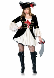 Plus Size Captain Swashbuckler Costume