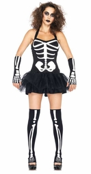 3-Piece Sexy Skeleton Costume