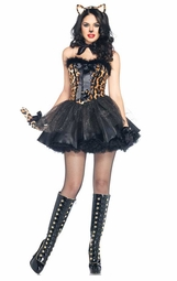 5-Piece Luxe Leopard Cat Costume