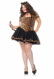 Plus Size 2-Piece Tantalising Tabby Costume