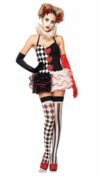 2-Piece Sweetheart Harlequin Costume