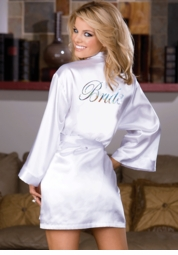 Best Selling Bride Satin Robe with Slip