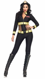 2-Piece Red Blaze Firefighter Costume