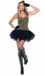 2-Piece USO Girl Costume