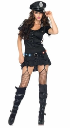 4-Piece Sergeant Sexy Light-Up Costume