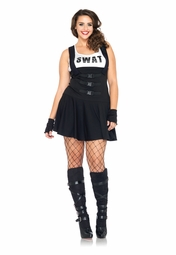 Plus Size 3-Piece Sultry SWAT Officer Costume