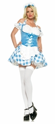 Checkered Shepherdess Costume