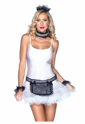 4-Piece Dirty Maid Kit with Apron, Cuffs, Collar and Headband