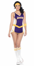 2-Piece NBA Lakers Jersey Sexy Costume
