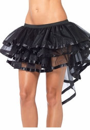 Tiered Chiffon Petticoat with Back Train and Satin Trim