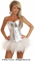 Silver Rocket Corset and Pettiskirt