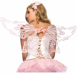 Costumes-Glitter Eyelet Fairy Wings