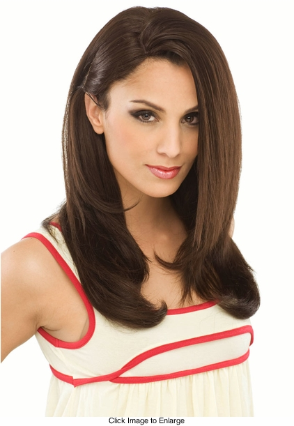 Long Layered Human Hair Blend Wig by West Bay