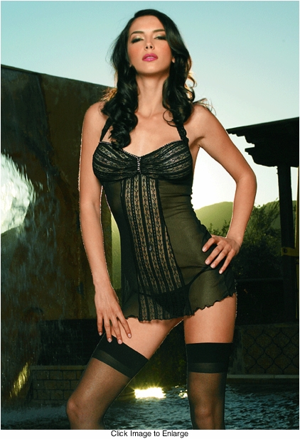Halter Lace and Mesh Mini Dress