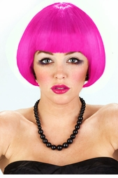 Mini Bob Wig in Hot Pink