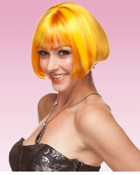 Mini Bob Wig in Yellow and Orange Blend