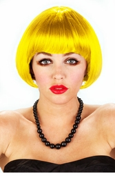 Mini Bob wig in Yellow