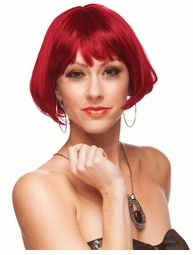 Mini Bob Wig in Red and Black