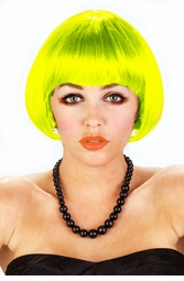 Mini Bob Wig in Neon Green