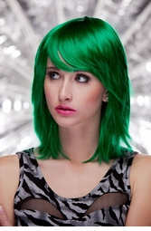 Emerald Green Vamp Shoulder Length Wig