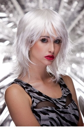Snow Vamp Shoulder Length Wig