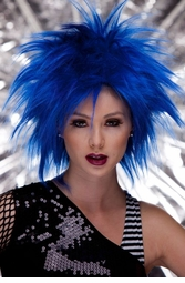 Punk Wig in Regal Blue