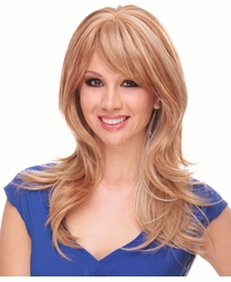 Long Layered Blend Human Hair Wig