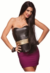 "Dramatic 38"" Ultra Long Wig with Middle Part"
