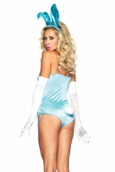 Oh So Sexy Bunny Costume in Blue Satin