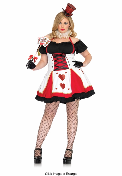 Plus Size 2-Piece Pretty Playing Card Costume