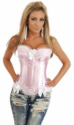Genuine Corset Top Pink Bunny Costume with Pettiskirt, Gloves and Ears