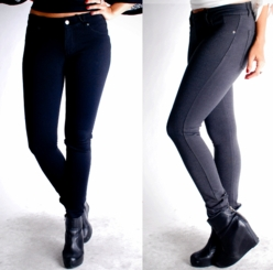 Stretch Leggings with Jean Styling