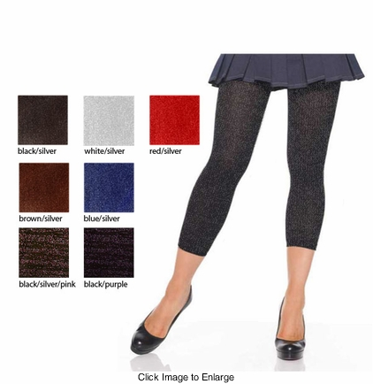Lurex Footless Tights
