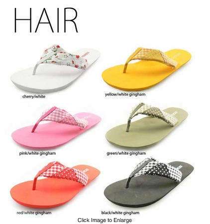 "0.5"" Flip Flops with Cotton Straps"