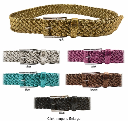 "1.5"" Wide Braided Sparkle Belt"