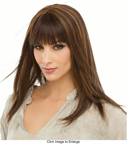 Straight Long Human Hair Blend Wig