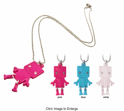 "1.15"" Wiggly Feet Robot Necklace"