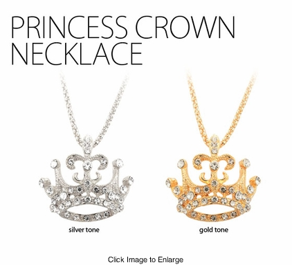 Princess Crown 1.5'' Necklace